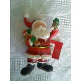 Santa De Ceramica Aprox 10cm Decoracion Navidad Arbol Mesa