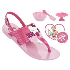 Sandália Infantil Grendene Hello Kitty (com Brinde)