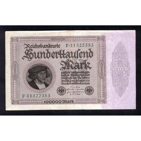 Billete 100000 Marcos Alemanes 1922/23 Serie F N°11322353 Ex