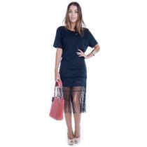 Vestido De Renda Com Franjas - Kam Bess - Ve1283