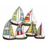 Barcos De Metal Diseño De Marina Cuadro 82 X 65cm
