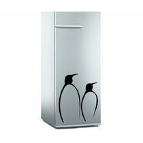 Adesivo 2 Pinguins De Geladeira Ou Móveis.