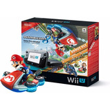 Nintendo Wii U 32gb Negro Deluxe Set Mario Kart 8 Nuevo