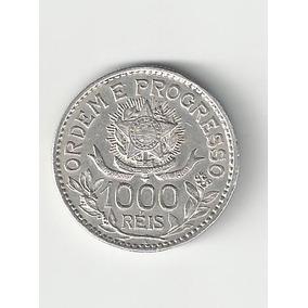 Moeda De 1000 Réis - 1913 - Flor De Cunho (prata)