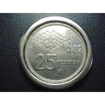 España 25 Pesetas Mundial 82 Niquel 32mm