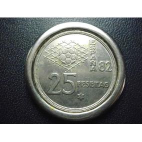 Moneda España 25 Pesetas Mundial 82 Niquel 32mm Envió Gratis