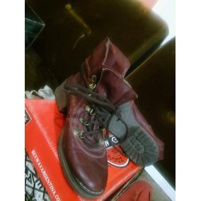 Zapatos Botitas Mujer T. 36. Rojas. Caña Corta. Imperdible.