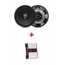Auto Falante Snake 12 600w Rms + Modulo Taramps Dsp 1600w