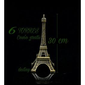 Paquete De 6 Torres Eiffel De 30 Cm - Envío Gratis