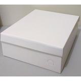 Caixa Sapato Papelão Branca - 28x23x10 Cm - Kit 10 Unidades