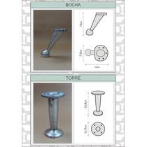 8 Patas De Aluminio Para Sillones Puff Living Y Muebles