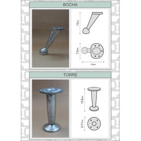 4 Patas De Aluminio Para Sillones Puff Living Y Muebles
