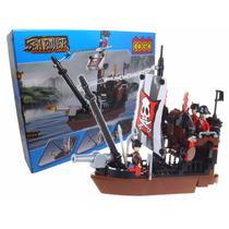 Brinquedo Para Montar Navio Pirata 167 Peças Sea Rover