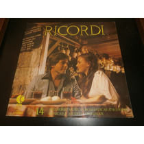 Lp Ricordi, Músicas Romanticas Italianas, Disco Vinil, 1979