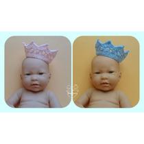 Kit 2 Mini Coroas Crochê Cores-book Fotos-grávidas/newborn