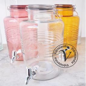 Dispenser De Vidrio Con Canilla Hermetico Jugos Bebidas 6lt