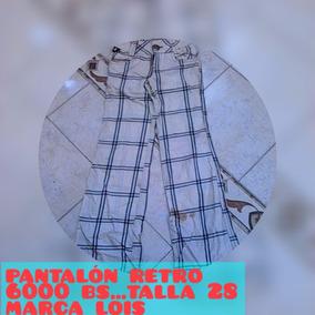 Pantalon Lois De Cuadro Palaton Retro Bota Ancha