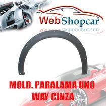Moldura Para Lama Uno Way 09 10 11 Cinza Jogo 4pçs