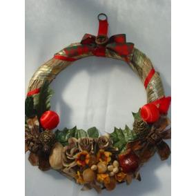 Rosca De Navidad, Artesanal, Rustica Con Semillas, Nueva