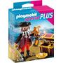 Playmobil Mini Pirata Con Cofre Del Tesoro Xml 4783