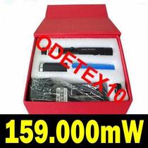 Super Caneta Laser Pointer 159.000mw 39km Verde Kit Complet1