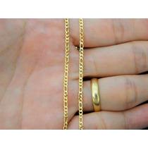 Corrente Cordão Colar 3x1 Masculina Feminina De Ouro 18k-750