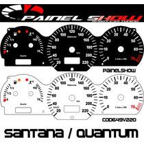 Santana 98 99 2000 Cod649v220 Translucido P/ Painel + Led