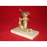 Exquisita Escultura De Pájaro En Bronce -origen Europeo-