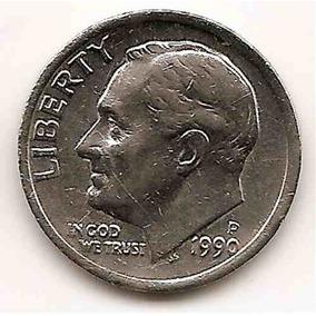 Moneda Estados Unidos One 1 Dime 10 Centavos Año 1990p