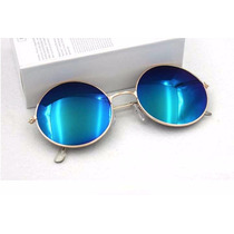Óculos De Sol De Masculino Feminino Azul Espelhado Importado