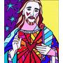 Poster P/ Quadro Romero Britto 60cmx70cm Obra De Arte Jesus