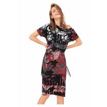 Vestido Desigual Drapeado Ajustable Original - Importado
