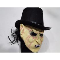 Mascara Dracula Morto Mas Feliz Com Cartola Halloween Terror