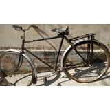 Bicicleta Antiga Anos 50,60 Com Banco De Mola E Placa