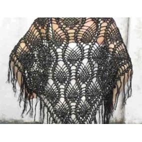 Chal Chalina Tejido Al Crochet Lana Cashmilon Hot Sale