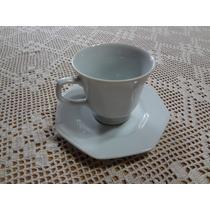 Conjunto 6 Xícaras Chá C/ Pires Porcelana Schmidt Prisma Bco