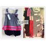 Conjunto Vestido Rayas Aplique Minnie Frunce + Bombachudo