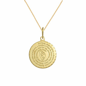 Correntinha Feminina 45 Cm Medalha Ave Maria Joia Folheada