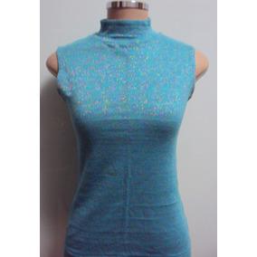 Blusa Azul Turquesa Com Brilho