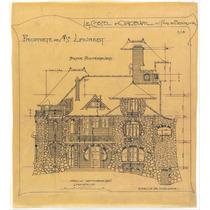 Lienzo Tela Dibujo Arquitectura Fachada Castillo Orgeval