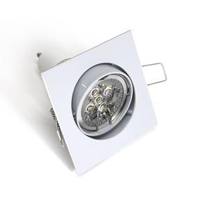 Spot De Embutir Cuadrado Blanco Dicroica Led 7w Luz Fria X10