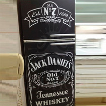 Kit Adesivo Envelopamento Geladeira Preto Fosco Jack Daniels