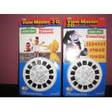 Set X 2 View Master 3-d Peliculas Plaza Sesamo