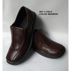 Zapatos Colegiales Marrones Mocasin Cafe En Cuero Niño