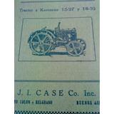 Catálogo De Despiece De Tractores Case 15-27 Y 18-32 Hp 1935