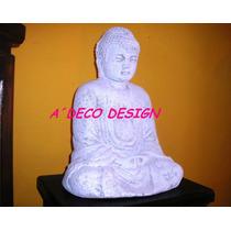 Buda Meditando Escultura Estatua Cemento Adorno