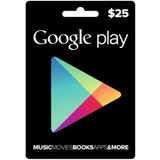 Google Play 25 Dolares Gift Card