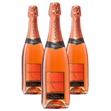 Kit: 3 Espumantes Chandon Passion Rose 750ml