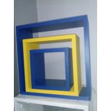 Repisa 3 Cubos, Color A Elección, Flotantes