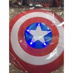 Escudo Em Pvc Capitão América Avengers 32cm C/ Luz E Som